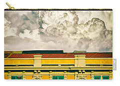 Carry-all Pouch featuring the photograph Big Cloud Over City Building by Silvia Ganora
