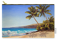 Hawaiian Beach Seascape - Big Island Getaway  Carry-all Pouch