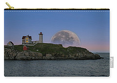 Big Moon Over Nubble Lighthouse Carry-all Pouch