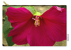 Carry-all Pouch featuring the photograph Big Red Hibiscus Bloom by James C Thomas
