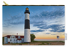 Carry-all Pouch featuring the photograph Big Sable Point Lighthouse Sunset by Sebastian Musial