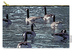 Carry-all Pouch featuring the digital art Big Spring Goose Art I   by Lesa Fine