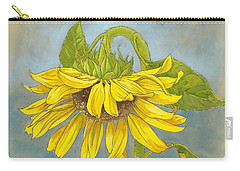 Big Sunflower Carry-all Pouch