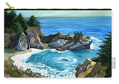 Big Sur Waterfall Carry-all Pouch by Alice Leggett