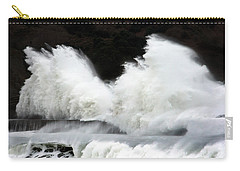 Big Waves Breaking On Breakwater Carry-all Pouch