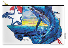 Bigger In Texas Carry-all Pouch by Carey Chen