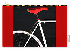 Bike In Black White And Red No 1 Carry-all Pouch by Ben and Raisa Gertsberg