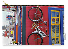 Bike Shop Carry-all Pouch by Fiona Kennard