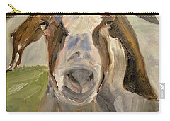 Carry-all Pouch featuring the painting Billy by Donna Tuten