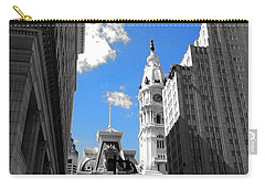 Carry-all Pouch featuring the photograph Billy Penn Blue by Photographic Arts And Design Studio