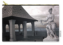 Biltmore Italian Garden Gazebo - Biltmore House Statues Architecture Garden Carry-all Pouch by Kathy Fornal
