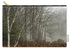 Birch In Winter Carry-all Pouch by Fran Gallogly