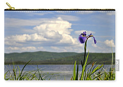 Carry-all Pouch featuring the photograph Birch Lake Iris by Cathy Mahnke