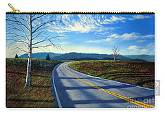 Birch Tree Along The Road Carry-all Pouch