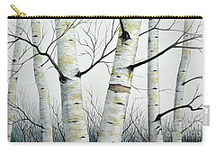 Birch Trees In The Forest By Christopher Shellhammer Carry-all Pouch