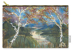 Birch Trees On The Ridge  Carry-all Pouch