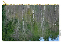 Birch Trees Reflected In Pond Carry-all Pouch