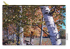 Carry-all Pouch featuring the photograph Birches by Mim White