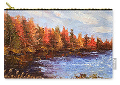 Carry-all Pouch featuring the painting Birchwood Lake by Jason Williamson