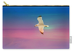 Carry-all Pouch featuring the photograph Bird At Sunset by Athala Carole Bruckner
