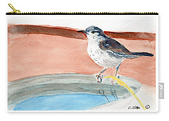 Carry-all Pouch featuring the painting Bird Bath by C Sitton