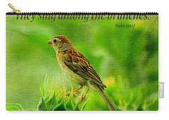 Bird In A Sunflower Field Scripture Carry-all Pouch