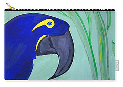 Carry-all Pouch featuring the painting Bird In Paradise   by Nora Shepley