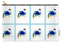 Carry-all Pouch featuring the digital art Bird Lady 2 by Ann Calvo
