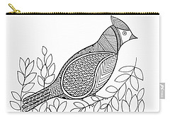 Bird North Cardinal Carry-all Pouch by Neeti Goswami