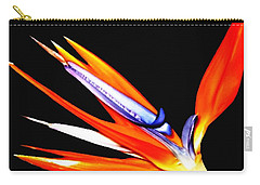 Bird Of Paradise Flower With Oil Painting Effect Carry-all Pouch by Rose Santuci-Sofranko