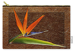 Bird Of Paradise Gold Leaf Carry-all Pouch
