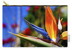 Carry-all Pouch featuring the photograph Bird Of Paradise Open For All To See by Jerry Cowart