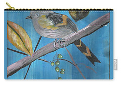 Bird On A Branch  Carry-all Pouch by Francine Heykoop