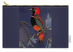 Bird On A Branch Carry-all Pouch by Kathleen Sartoris