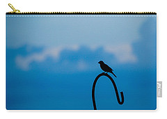 Carry-all Pouch featuring the photograph Bird Silhouette  by Dee Dee  Whittle