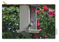 Carry-all Pouch featuring the photograph Bird Time To Fly by Thomas Woolworth