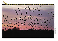 Birds At Sunrise Carry-all Pouch by Aimee L Maher Photography and Art Visit ALMGallerydotcom