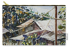 Carry-all Pouch featuring the painting Bird's Eye View by Xueling Zou