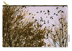 Carry-all Pouch featuring the photograph Birds Of A Feather Flock Together by Thomasina Durkay