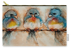 Carry-all Pouch featuring the painting Birds Of A Feather by Jani Freimann