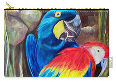 Bird's Of A Feather, Macaws Carry-all Pouch