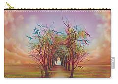 Birds Of Rainbow Mist Carry-all Pouch by Anna Ewa Miarczynska