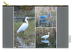 Birds On Pond Collage Carry-all Pouch
