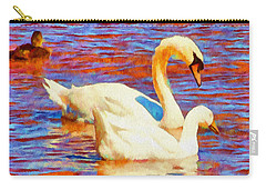 Birds On The Lake Carry-all Pouch