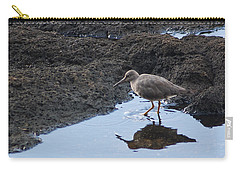 Carry-all Pouch featuring the photograph Bird's Reflection by Belinda Greb