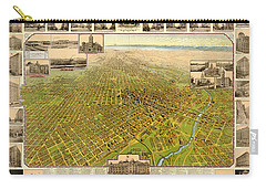 Birdseye Map Of Denver Colorado - 1908 Carry-all Pouch by Eric Glaser