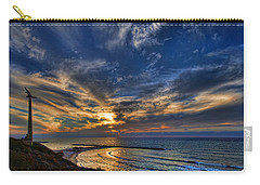 Carry-all Pouch featuring the photograph Birdy Bird At Hilton Beach by Ron Shoshani