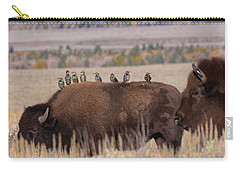 Bison And Buddies Carry-all Pouch