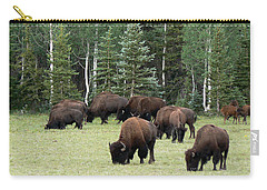 Bison At North Rim Carry-all Pouch by Laurel Powell