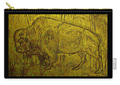 Golden  Buffalo Carry-all Pouch by Larry Campbell